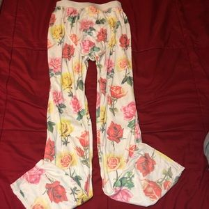 NWOT Wildfox Bright Roses Floral  Lounge Pants